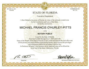 michael-ohurley-pitts-notary-public-florida-commission-certificate